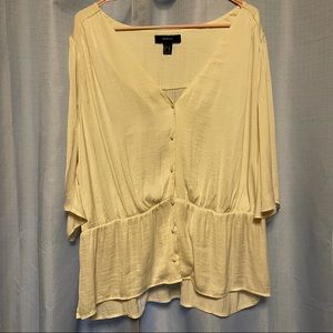 Forever 21 Plus | Loose afloat Silky Blouse Top